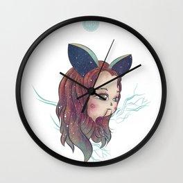 Rabbit Girl Wall Clock