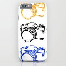 Black on White Camera Slim Case iPhone 6s