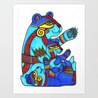 Zen Bear 2 Art Print