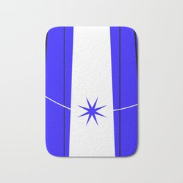 blue star on stage Bath Mat