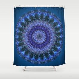 Mandala blue emotion Shower Curtain