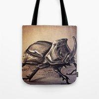 beetle Tote Bags featuring Beetle by Werk of Art
