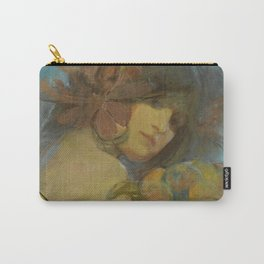 """Alphonse Mucha """"Study for a poster - Fruit"""" Carry-All Pouch"""