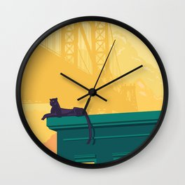 Urban jaguar Wall Clock