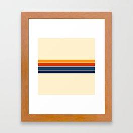 Classic Retro Stripes Framed Art Print