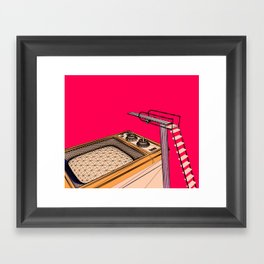 Swimming in Technicolor Framed Art Print