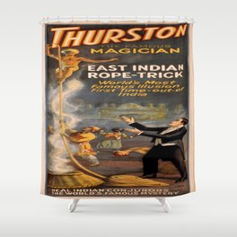 Vintage poster - Thurston the Magician Shower Curtain