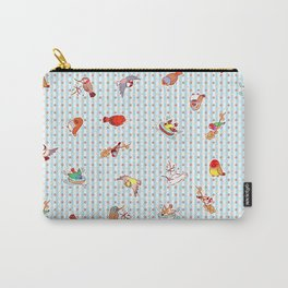 Cute cartoon finches pattern Carry-All Pouch
