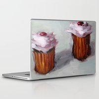 cupcakes Laptop & iPad Skins featuring Cupcakes by scott french studio