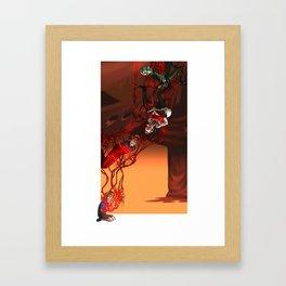 Red Memories Framed Art Print