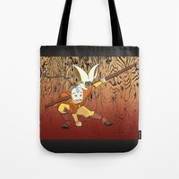 avatar Tote Bags featuring Avatar by SnowVampire