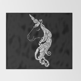 The Ivory Unicorn Throw Blanket