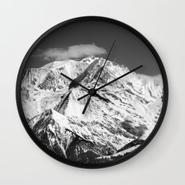 Mt. Blanc with cloud. Wall Clock
