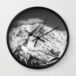 Mt. Blanc with cloud (Mono) Wall Clock