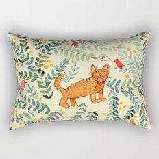 minou jaune (this yellow cat) Rectangular Pillow