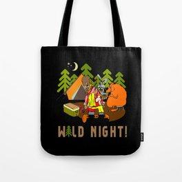 Camping Wild Night Tote Bag