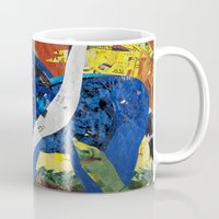 marc johns Mugs featuring franz marc tribute by zantelier