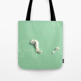 elephantman and son Tote Bag