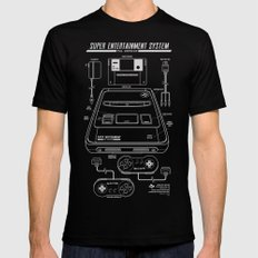 SNES PAL MEDIUM Mens Fitted Tee Black