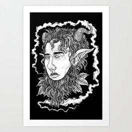Head of the Faun Art Print