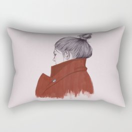 in the back of your head Rectangular Pillow