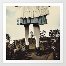 TomFeiler_Alice in Wonderland_Alice's legs Art Print