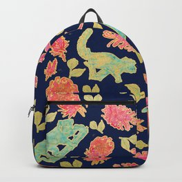 Australian Native Floral and Fauna Print Backpack