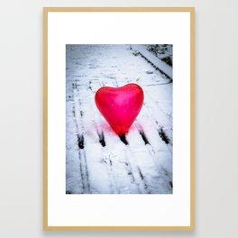 The Heart Can Cross Any Bridge Framed Art Print