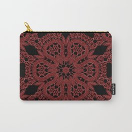 Red Lace Pattern Carry-All Pouch