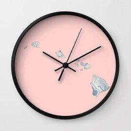 Marble Hawaii map Wall Clock