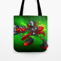 spawn Tote Bags featuring Spawn  by alexviveros.net