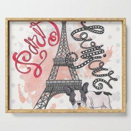 Paris Bonjour Serving Tray