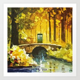 Tardis At The River Bridge Art Print