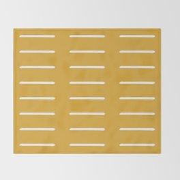 organic / yellow Throw Blanket