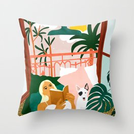 It doesn't matter where you're going, it's who you have beside you #painting #illustration Throw Pillow