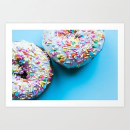 Sprinkle Donuts Art Print
