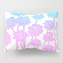Gradient Roses Pillow Sham