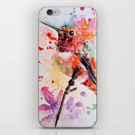 Orange Splash iPhone Skin