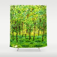 narnia Shower Curtains featuring Wood Between the Worlds by Jenny Chatterton
