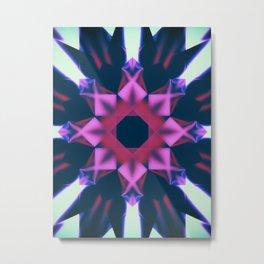 Dark Violet Mandala Metal Print