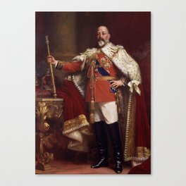 King Edward VII in coronation robes Canvas Print