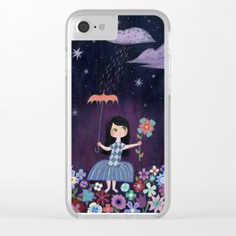 There is just one moon... Clear iPhone Case