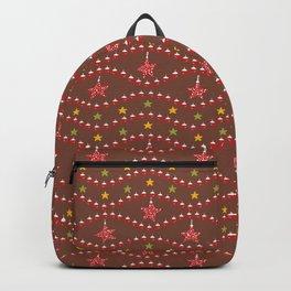 Festive Christmas Star Ornaments Backpack
