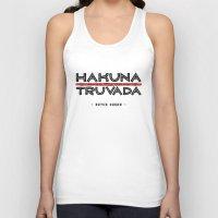 hakuna Tank Tops featuring BQ - Hakuna Truvada by lessdanthree