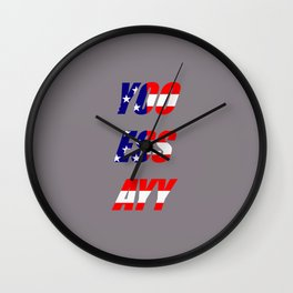 Yoo Ess Ayy Wall Clock
