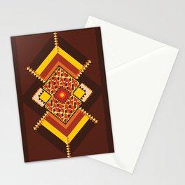GEO CASHEW 2  Stationery Cards