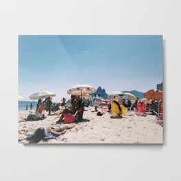 Ipanema beach in the middle of summer Metal Print