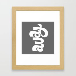 home/away ambigram Framed Art Print