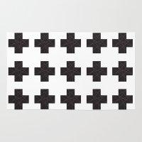cross Area & Throw Rugs featuring Cross by hyun yu
