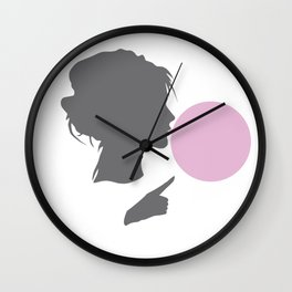 Woman bubble Wall Clock